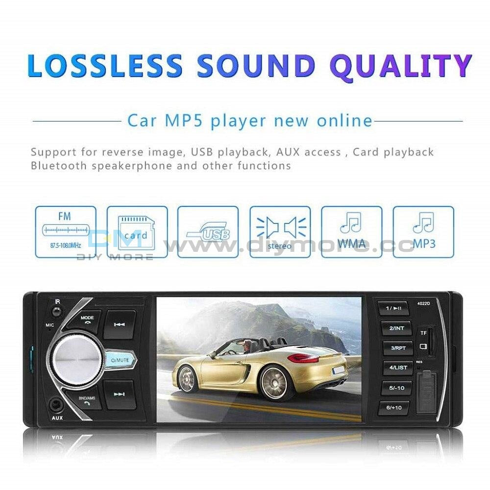 4.1 Inch Car Mp5 Mp3 Player 1 Din Hd Radio Auto Audio Stereo Autoradio Bluetooth Support Rear View