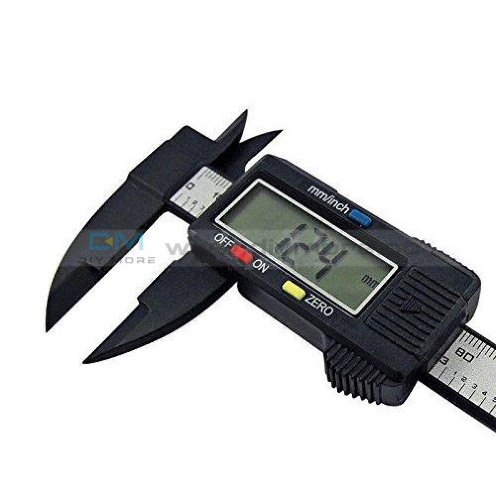 150Mm 6Inch Lcd Digital Electronic Display Carbon Fiber Vernier Caliper Gauge Micrometer Measuring