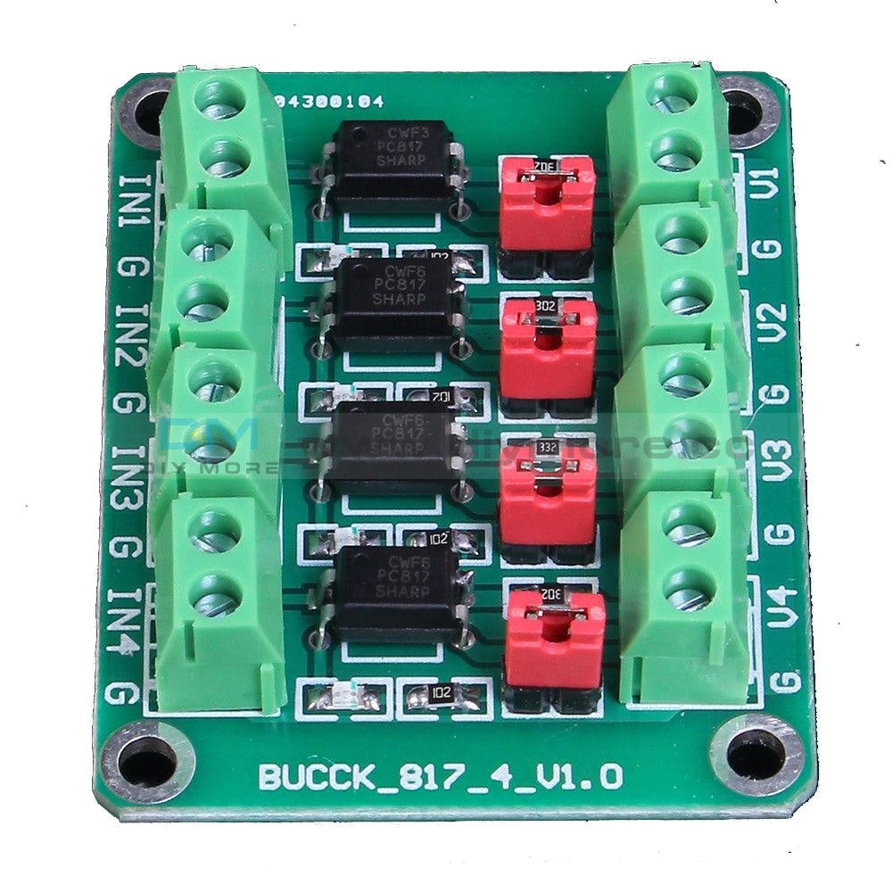 Pc817 4-Channel Voltage Converter Module Optocoupler Isolation Driving Delay Relay