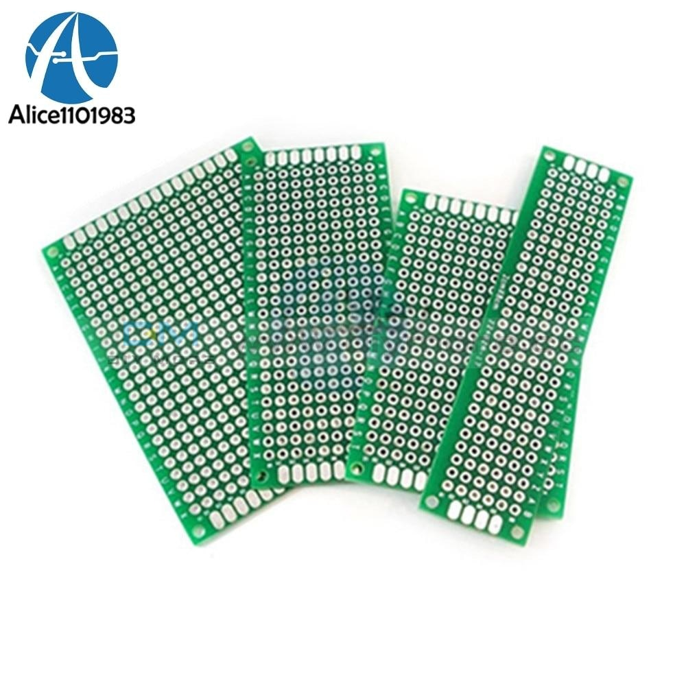4Pcs Double Side Prototype Pcb Tinned Glass Fiber Breadboard 5X7 4X6 3X7 2X8 Cm Fr4 5 X 7 2 8 4 6 3