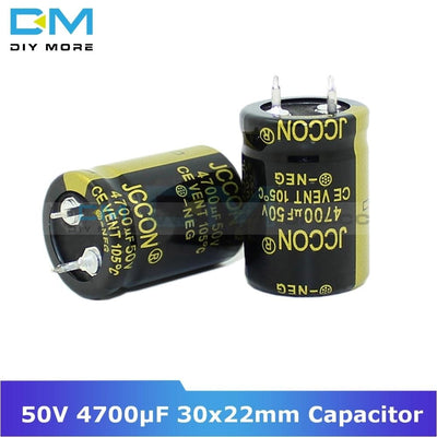 50V 4700Uf 30X22Mm 30X22 Aluminum Electrolytic Capacitor High Frequency Low Impedance Through Hole