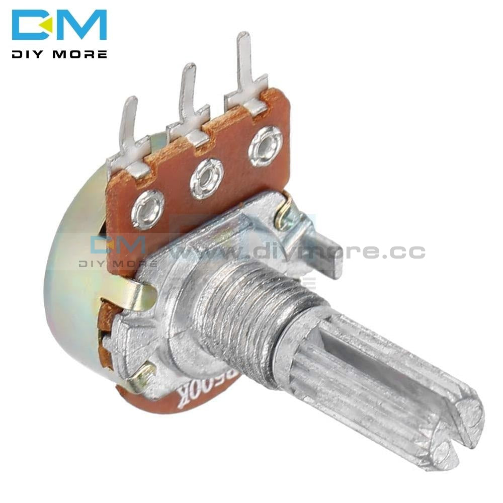 5Pcs 1K 2K 5K B10K 20K B50K 100K 250K 500K 1M Ohm Potentiometer Resistor Linear Taper Rotary Caps