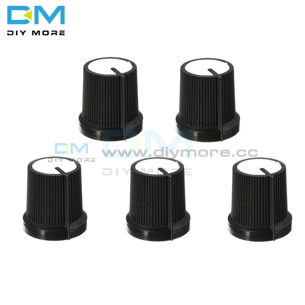 5Pcs Black Knob Blue White Yellow Red Orange 5 Colors Face Plastic For Rotary Taper Wh148