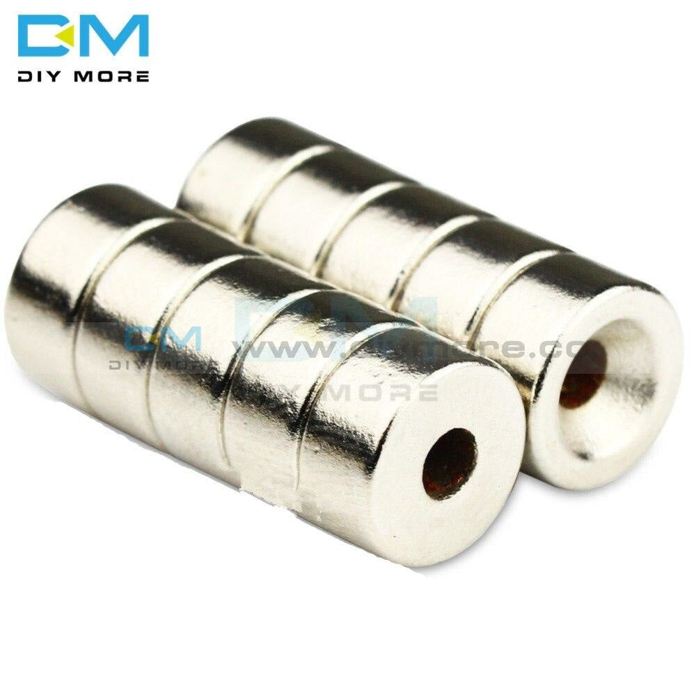 5Pcs N50 Strong Ndfeb Disc Neodymium Magnets 10X5Mm 10 X 5Mm Hole 3Mm Rare Earth Countersunk For Diy