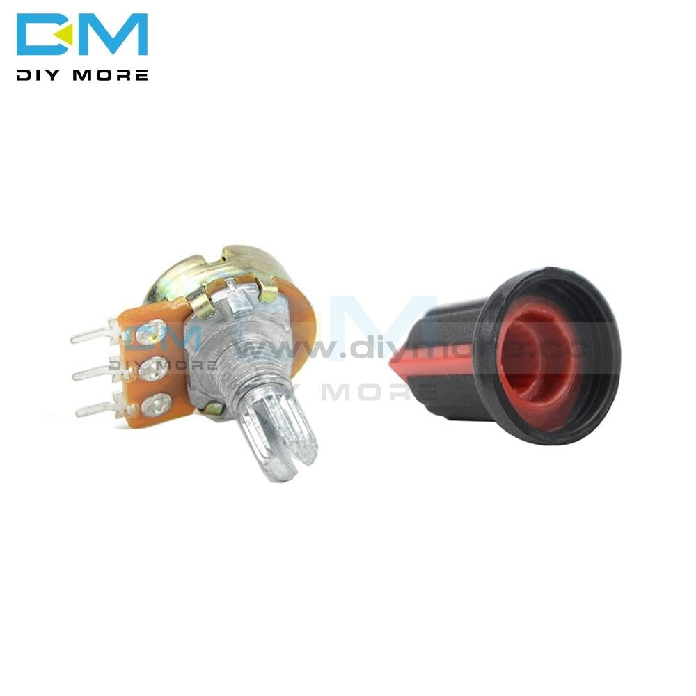 5Pcs Wh148 Linear Taper Rotary Potentiometer With Cap Red 1K 2K 3K 5K B10K 20K 30K 50K 100K 200K