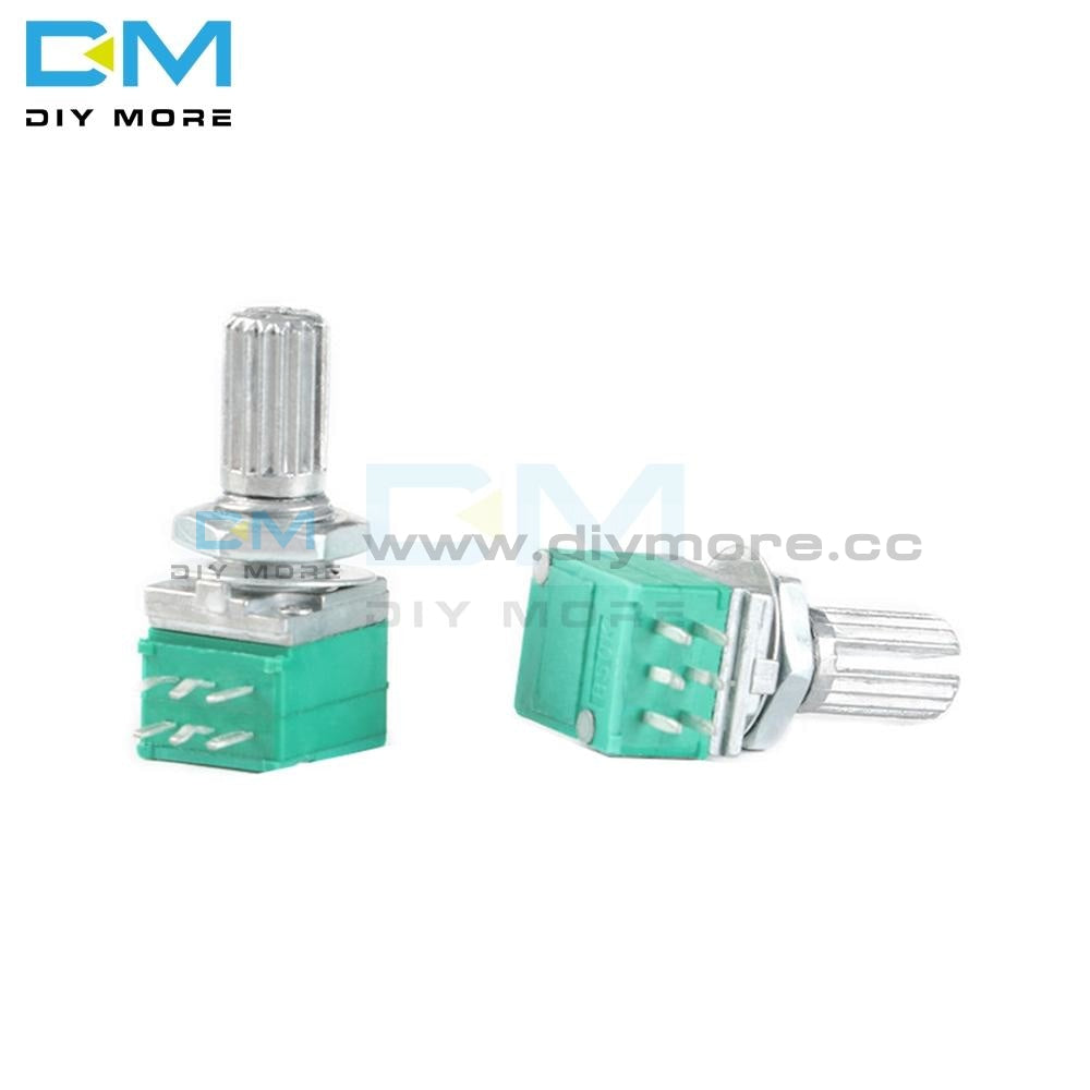 5Pcs Lot 5K 10K 20K 50K 100K Rotary Potentiometer 6Mm Knurled Shaft Single Linear B Type B10K Ohm 6