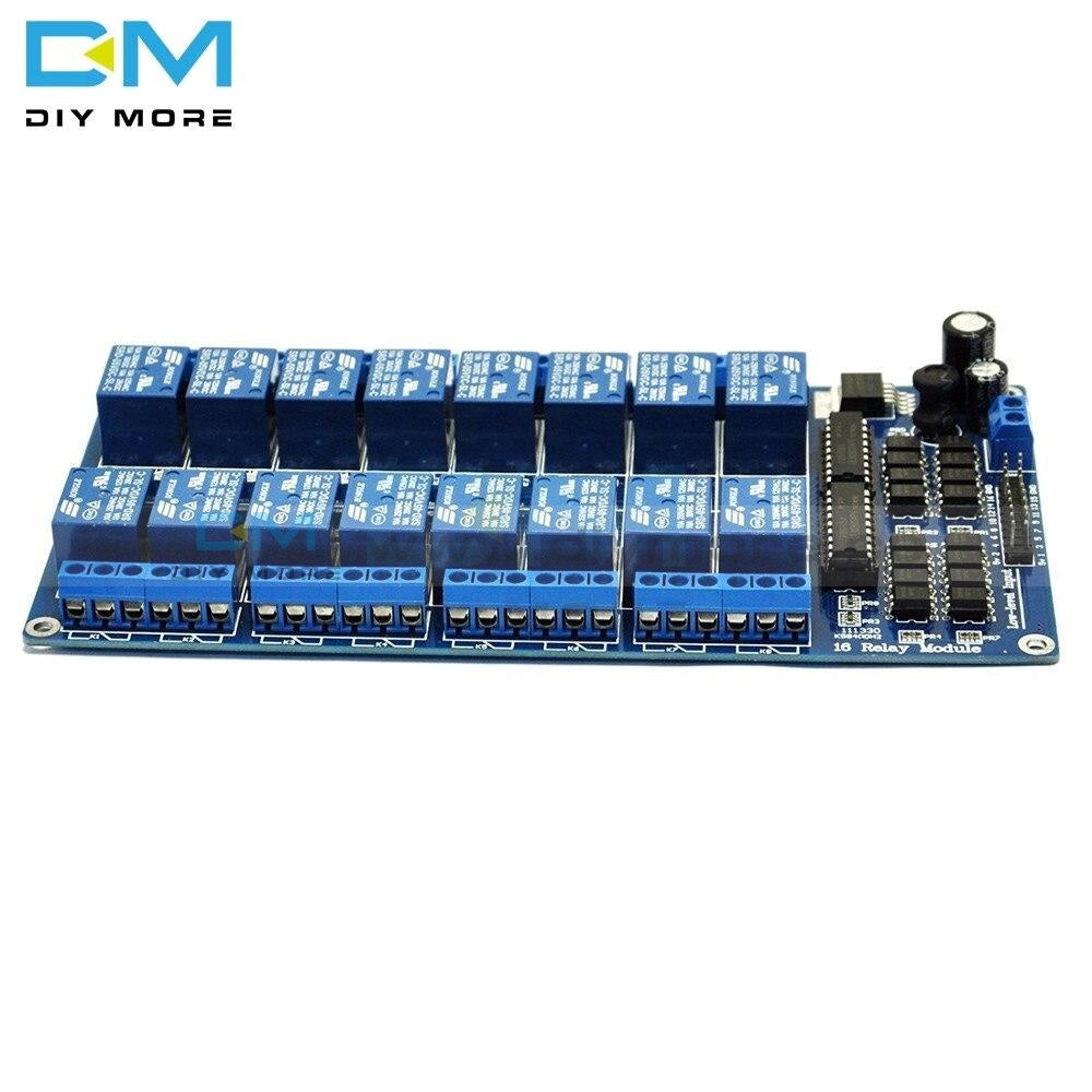 5V 16 Channel Relay Board Module For Arduino Arm Pic Avr Dsp Electronic Plate Belt Optocoupler