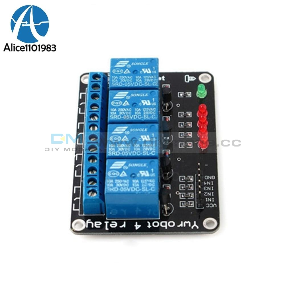 5V 4 Channel 4Ch Relay Module For Pic Avr Dsp Arm Msp430 Arduino Smart Electronic Way Integrated