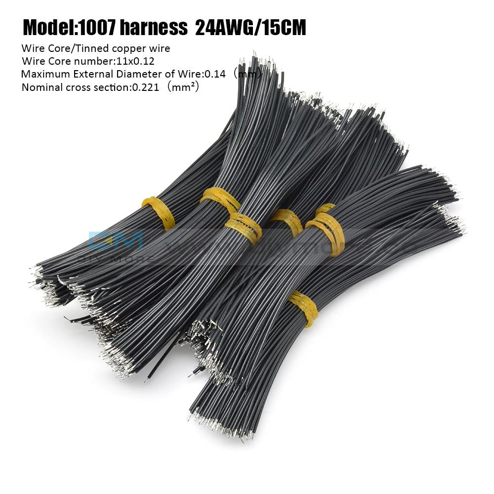100Pcs 24Awg Tin-Plated Breadboard Pcb Fly Jumper Conductor Wires 1007-24Awg Electrical Cable Black