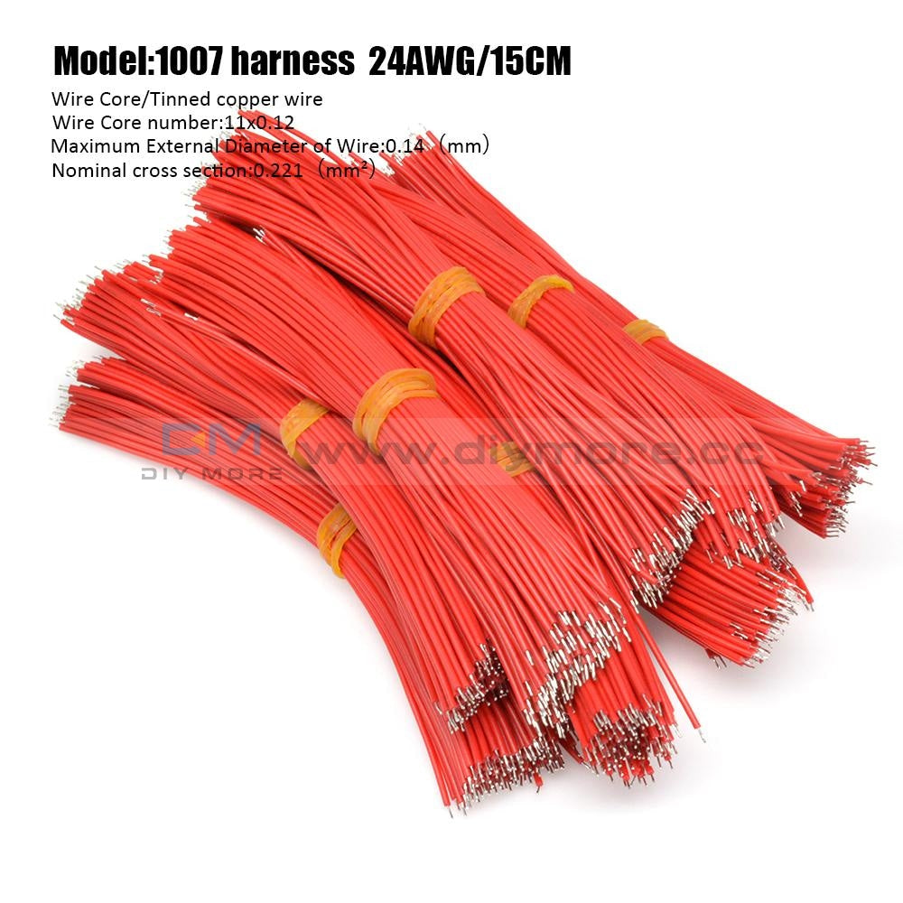 100Pcs 24Awg Tin-Plated Breadboard Pcb Fly Jumper Conductor Wires 1007-24Awg Electrical Cable Red
