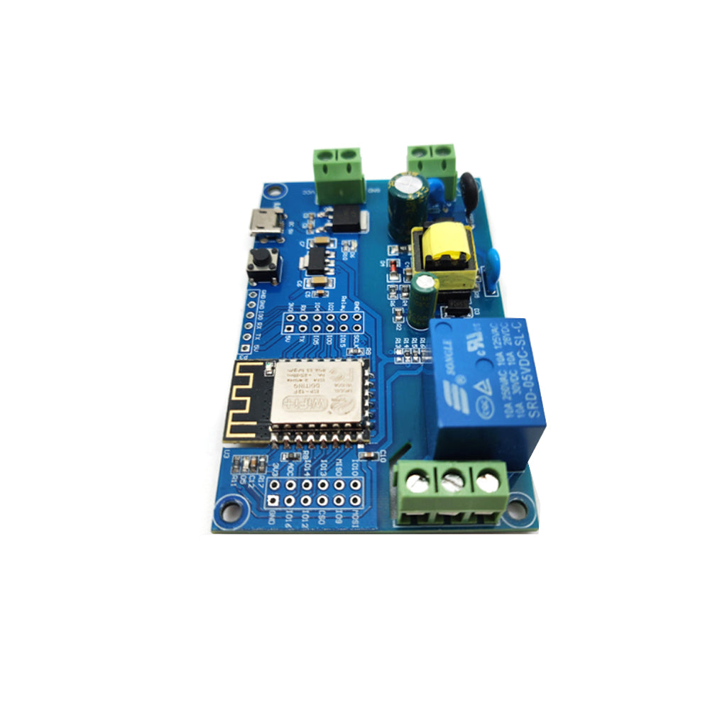 AC/DC Power Supply ESP8266 WiFi Single Relay Channel Module ESP-12F Development Board
