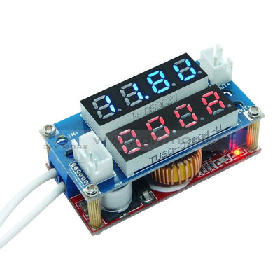 Cc/cv Adjustable 5A Step Down Charge Led Panel Voltmeter Ammeter Display Module Red Red/ Blue