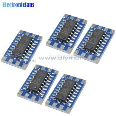 5Pcs Mini Serial Port For Arduino Mcu Rs232 To Ttl Converter Adaptor Board Module Max3232 3 5V