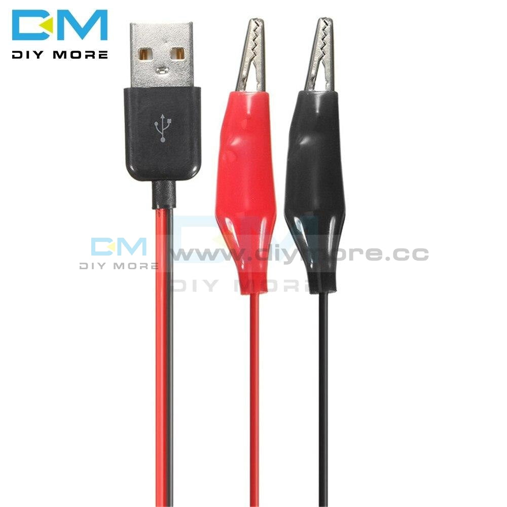 60Cm Alligator Test Clips Clamp To Usb Male Connector Power Supply Adapter Cable Integrated Circuits