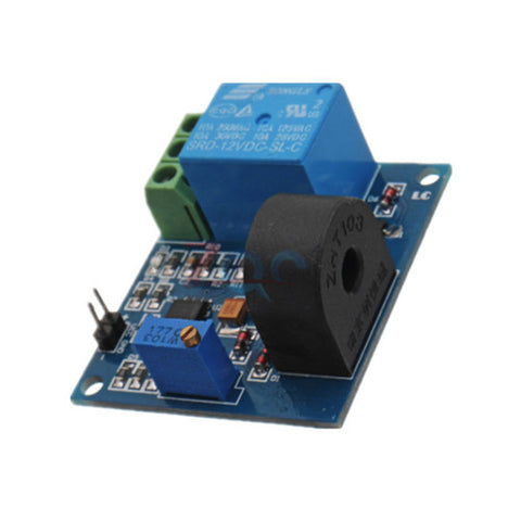 5A 12V Over Current Protection Sensor Module AC Current Detection Sensor Relay