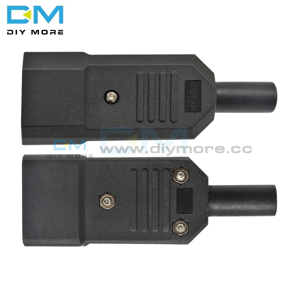 Ac 013A 250V 10A Male Power Adapter Iron Core 3 Terminals Iec320 C13 Connector Pins Integrated