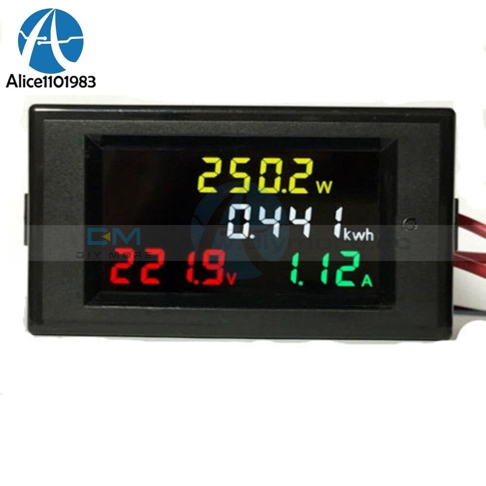 Ac 80 300V 100A Lcd Digital Ammeter Meter Voltmeter Power Module Volt Watt Kwh Integrated Circuits