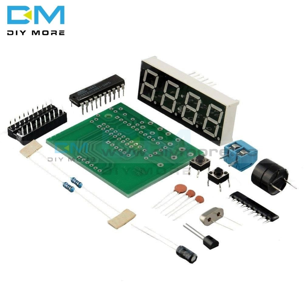 At89C2051 Digital Led Display 4 Bits Electronic Clock Production Suite Diy Kit 0.56 Inch Red Two
