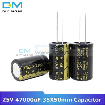 Aluminum Electrolytic Capacitor 25V 47000Uf 35X50Mm High Frequency Low Esr 35*50Mm Diymore