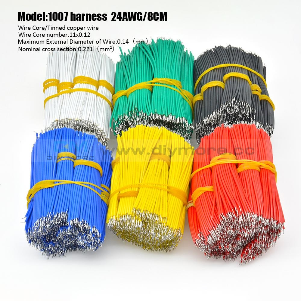 100Pcs 24Awg Tin-Plated Breadboard Pcb Fly Jumper Conductor Wires 1007-24Awg Electrical Cable Tools