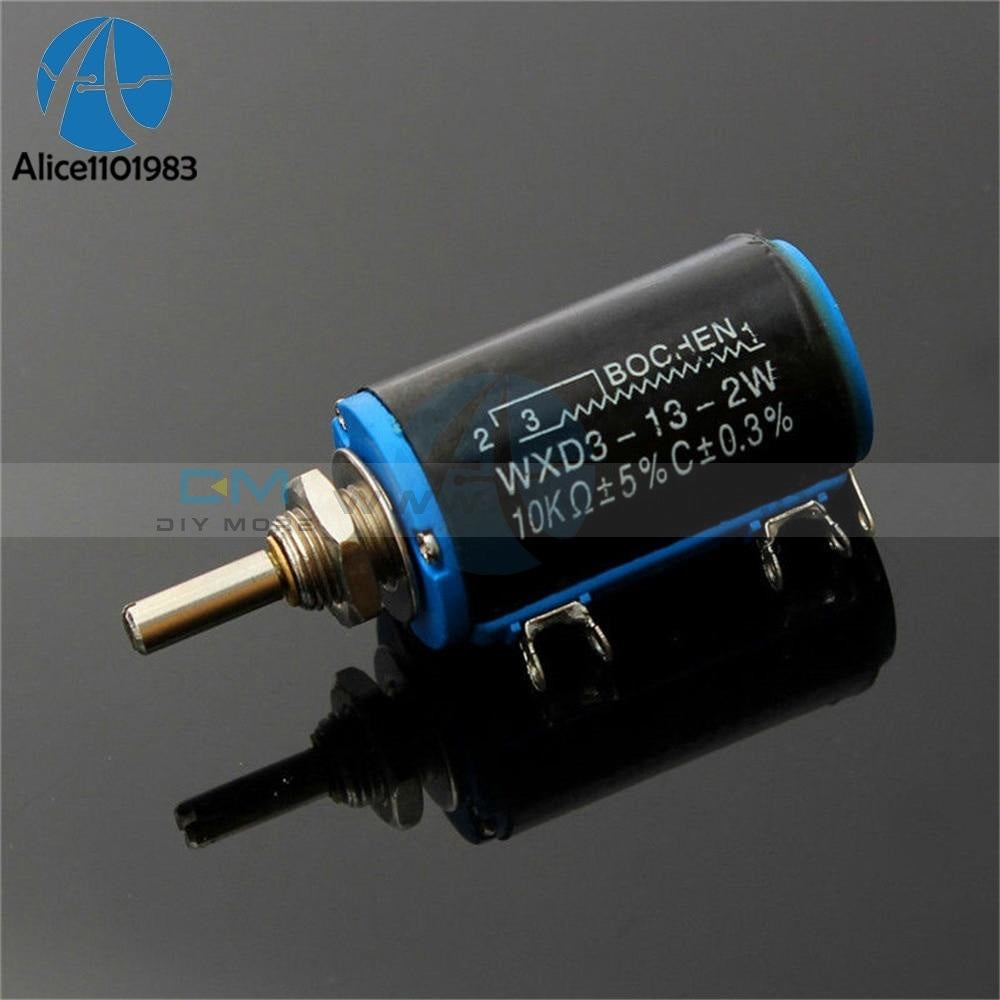 Black Precision Wxd3 13 2W Multi Turn Wirewound Linear Potentiometers 10K Ohm Motor Speed Controller