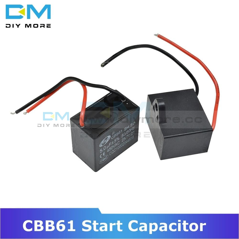 Cbb61 250/450V Ac Motor Speed Run Capacitor Fan Refrigerator Start Terminal Ceiling Cbb Running