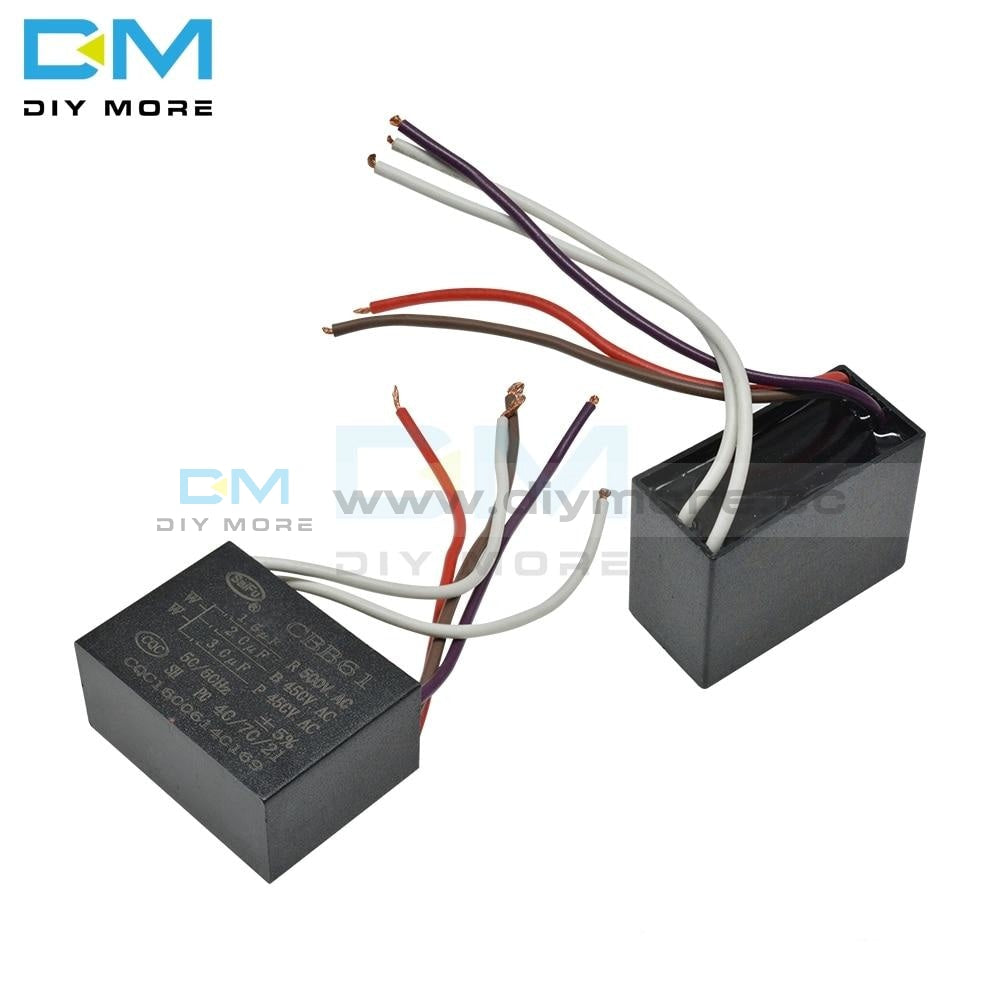Cbb61 500/450V Ac Motor Speed Run Capacitor Five Wire Fan Refrigerator Start Terminal Ceiling Cbb