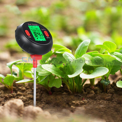 5 In 1 Digital Ph Meter Soil Water Moisture Monitor Temperature Humidity Analysis Sunlight Tester