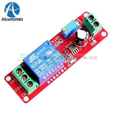 Dc 12V Delay Relay Shield Module Based On Ne555 Chip Timer Switch Adjustable Diy Electronic Pcb