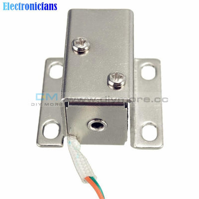 Dc 12V Electric Solenoid Lock Tongue Upward Assembly Module With Matching Wire For Door Cabinet