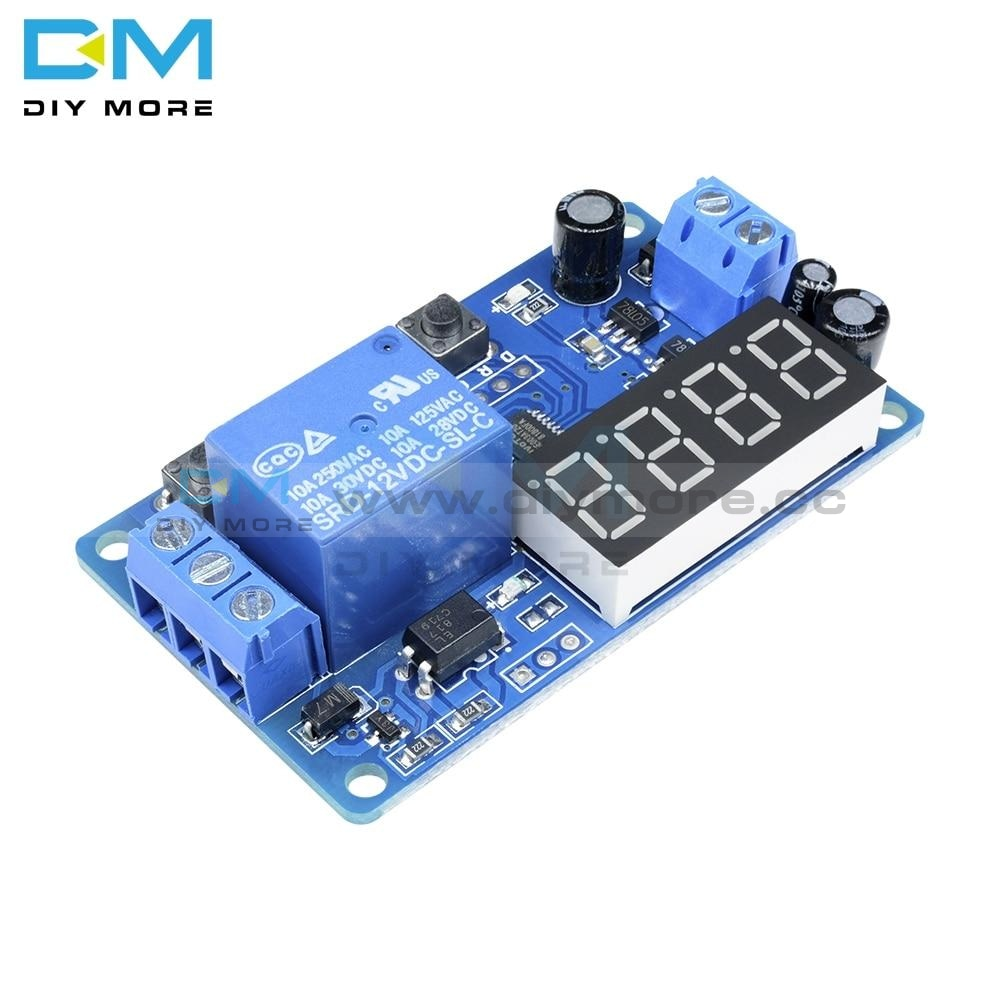 Dc 12V Led Display Digital Delay Timer Control Switch Module Plc Automation Relay Diy Electronic Kit