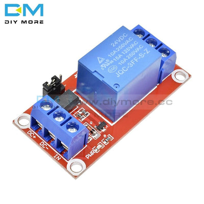 Dc 24V 1 Channel Relay Module Shield With Optocoupler High/low Level Trigger Expansion Board For