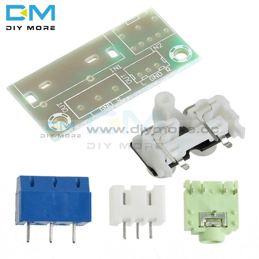 Diy Kit Audio Switch Board Rca 3.5Mm Input Block Module For Amplifier Electronic Kits Integrated