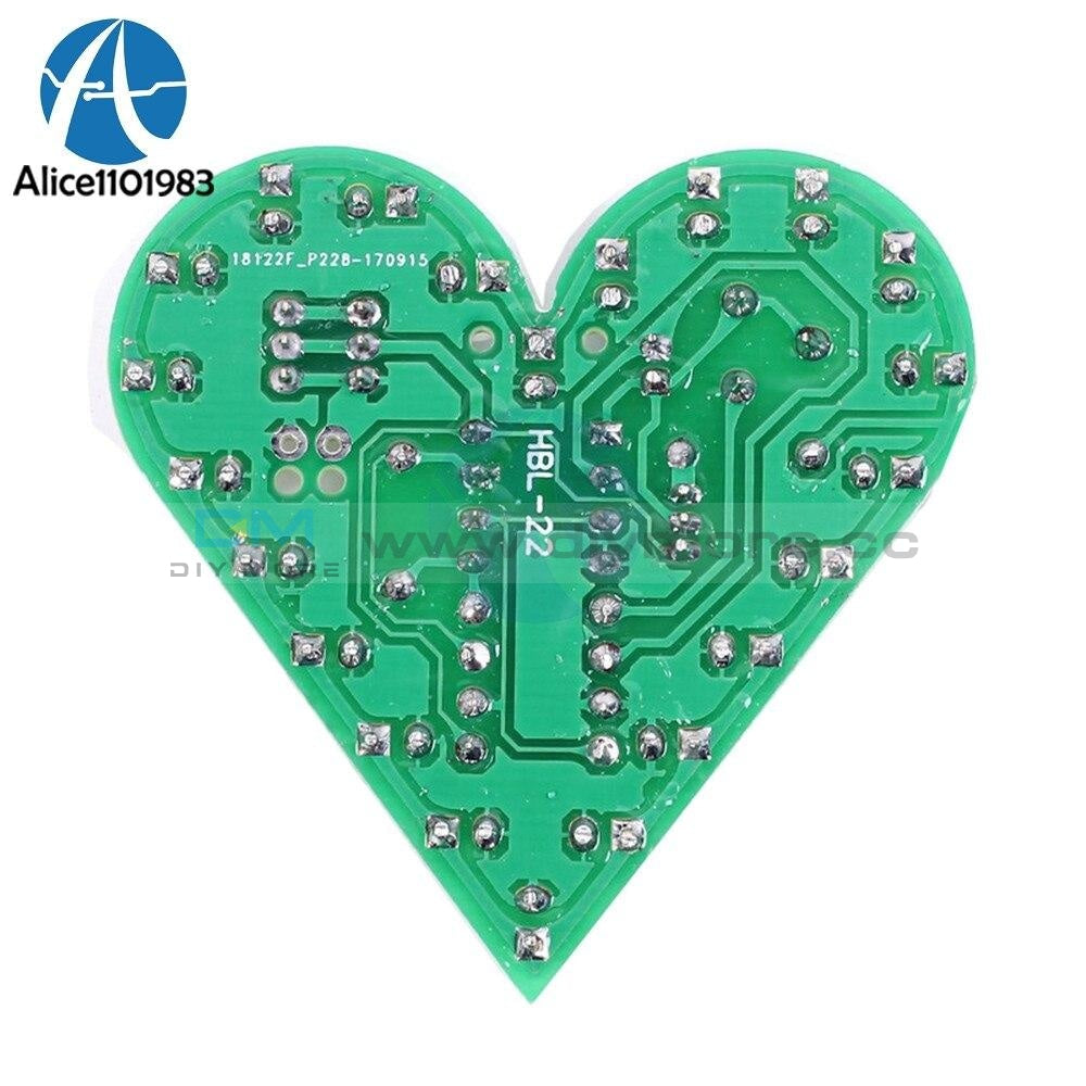 Diy Kit Heart Shape Breathing Lamp Dc 4V 6V Led Suite Red White Blue Green Module Board Production
