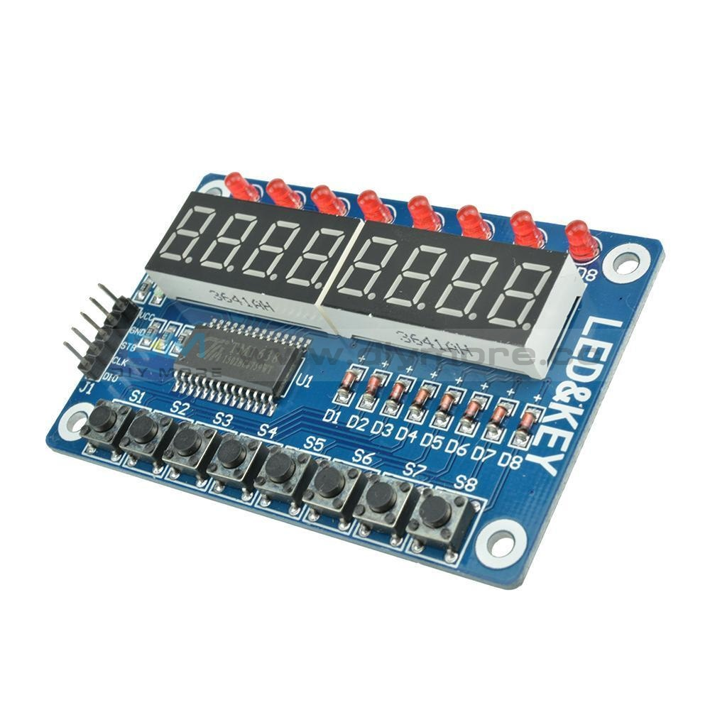 8-Bit Led Digital Tube 8 Keys Tm1638 Display Module For Avr Arduino Arm Module