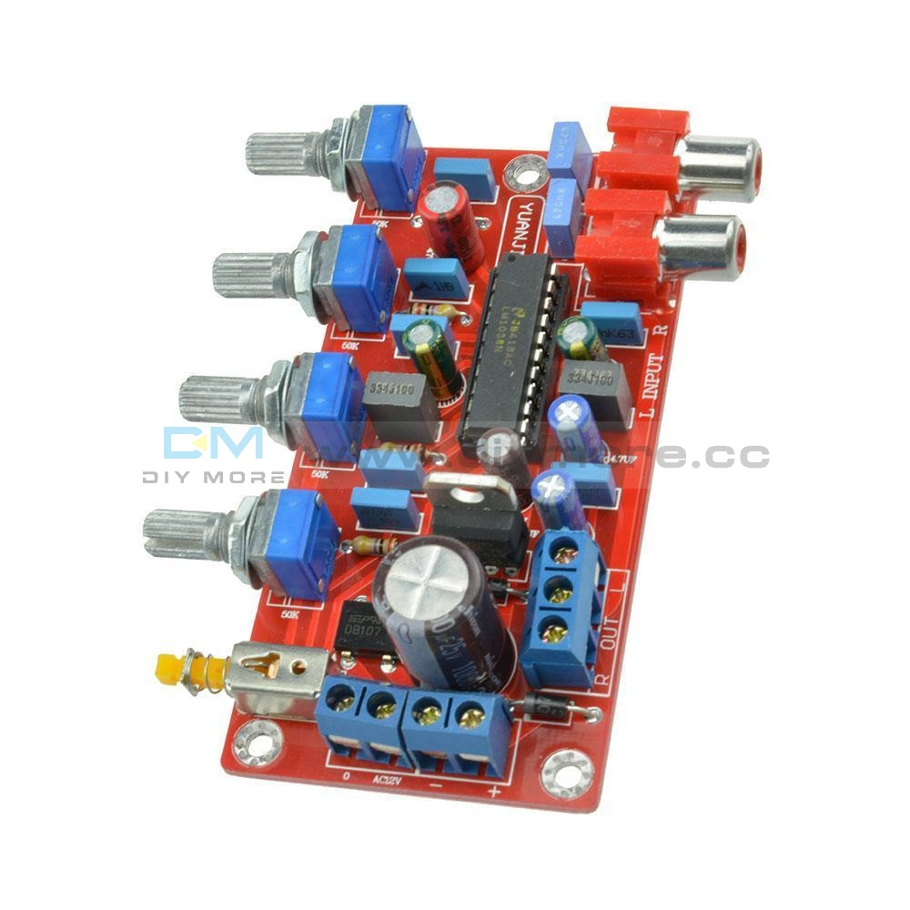 Lm1036 Luxurious Hifi Amplifier Preamplifier Volume Control Tone Board 1000Uf/25V Pro Completed And