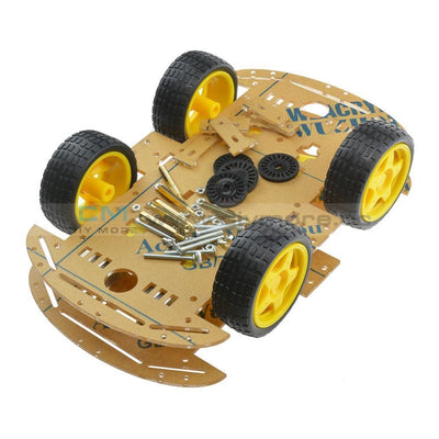 4 Wheel Robot Chassis Smart Car With Speed And Tacho Encoder For Arduino Raspberry Pi Diy Kits