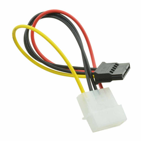 10Pcs Male Female 4 Pin Power Drive Adapter Cable to Molex IDE SATA 15-Pin S
