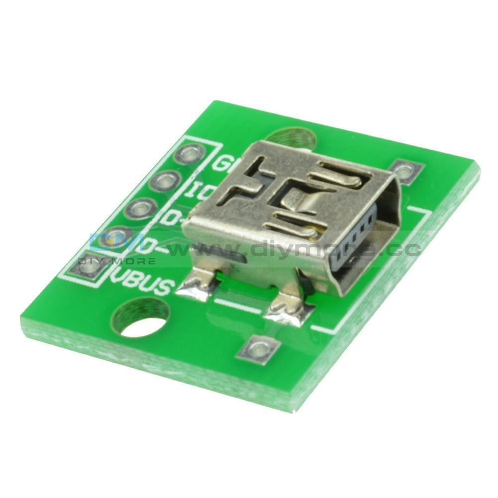 Mini Usb To Dip 2.54Mm Adapter Converter For Pcb Board Power Supply 5Pcs/10Pcs Module