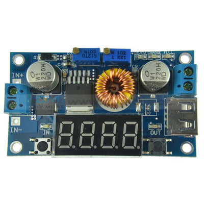 5A Cv Cc Led Drive Lithium Charger Power Step-Down Module W/ Usb Voltmeter Step Down