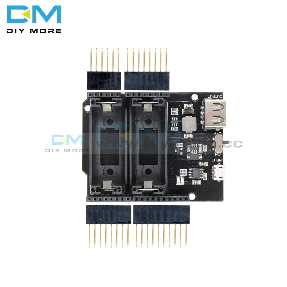 Esp8266 Esp32 Dual 16340 Lithium Battery Module Usb Mobile Power Bank Holder Charger Board For
