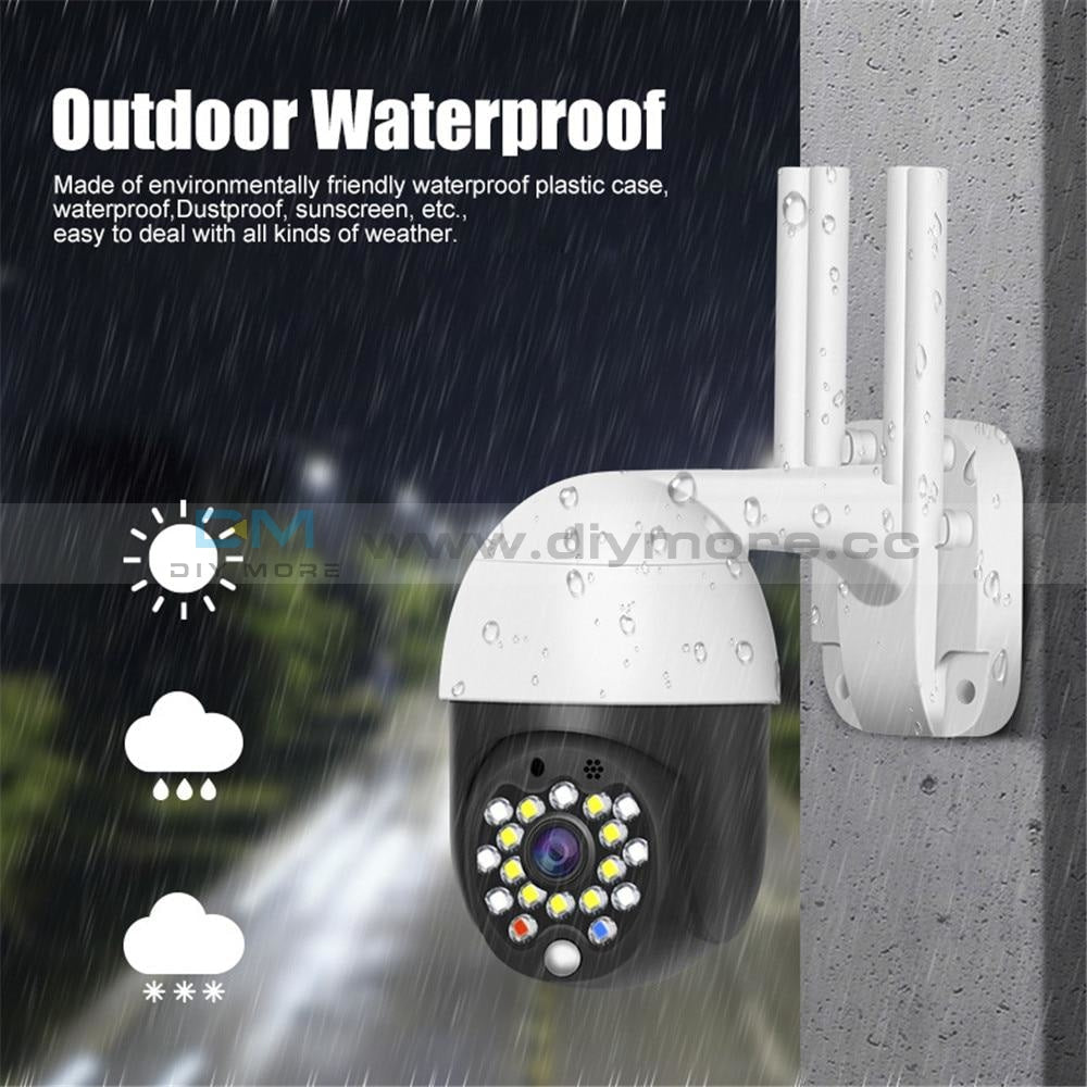 Full Color 1080P Wifi Ip Camera Waterproof Outdoor Recording Monitor Cctv Home Surveillance Voice