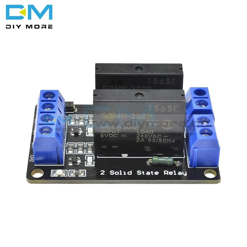 G3Mb 202P 5V Dc 2 Channel Solid State Relay Power Supply Board For Arduino Interface Module Ssr High