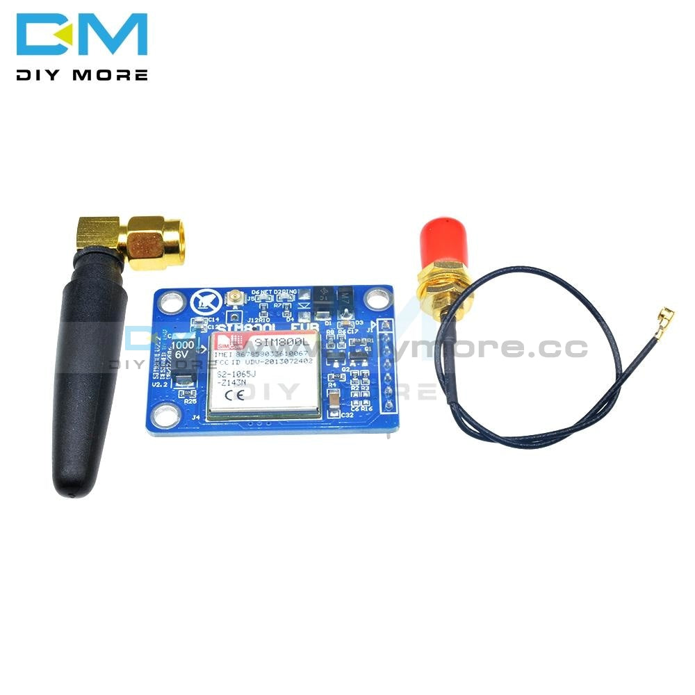 Sim800L V2.0 5V Wireless Gsm Gprs Module Quad-Band W/ Antenna Cable Cap M105 Board Ttl Level Serial