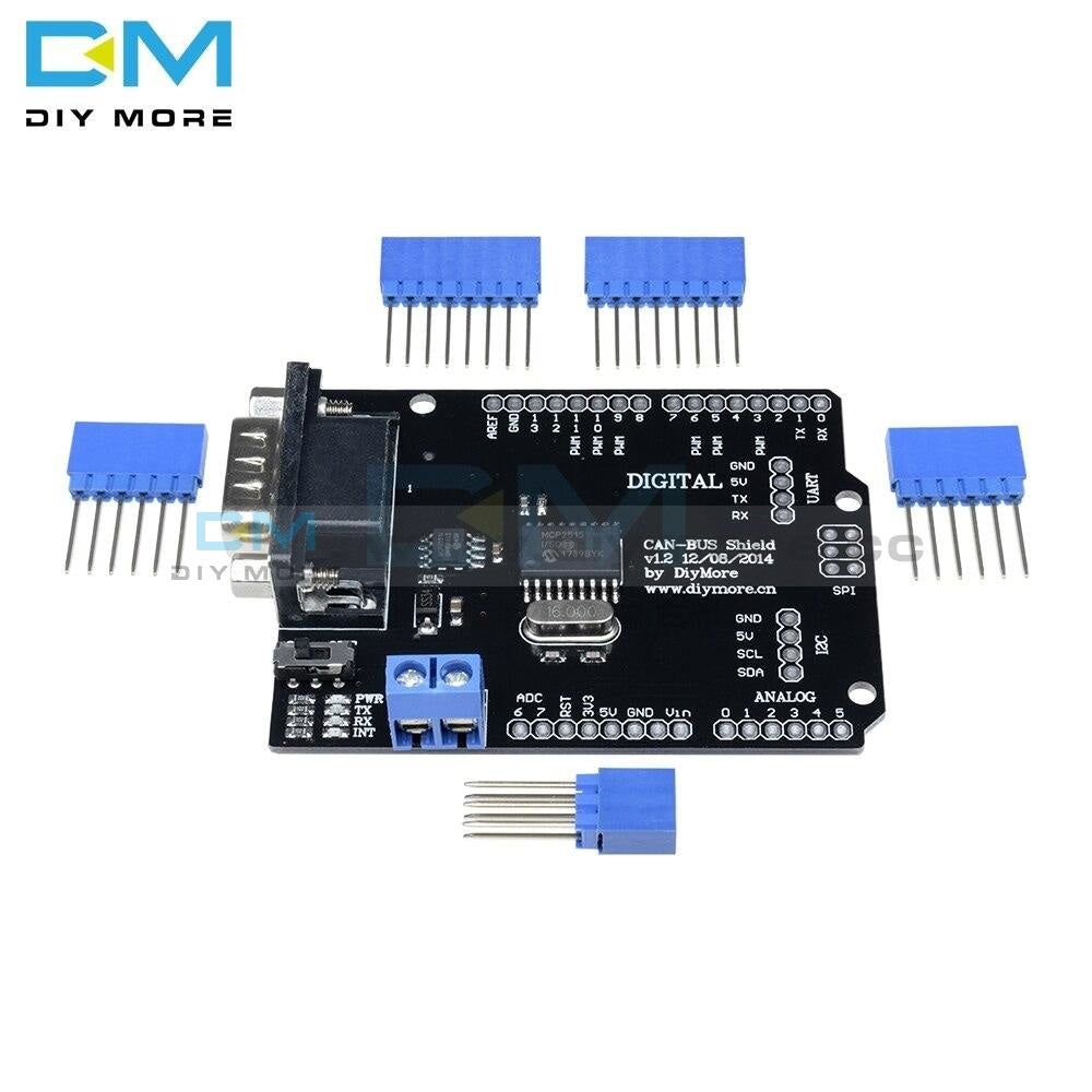 Mcp2515 Ef02037 Can Bus Shield Controller Board Communication Speed High V2.0B Module For Arduino
