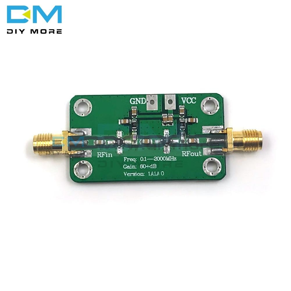 Lna 0.1-2000 Mhz 60Db High Gain Low Noise Amplifier Board Rf Broadband Module Dc 6-12V 35Ma