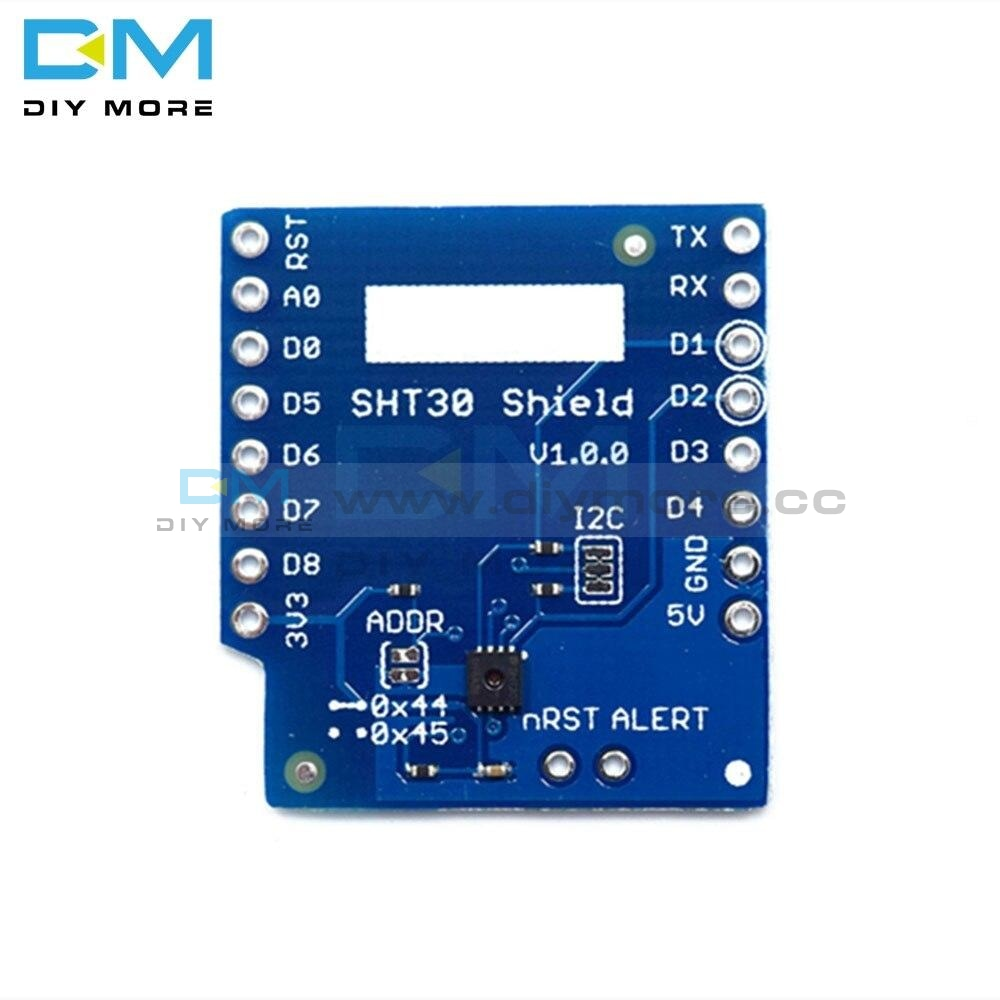 Sht30 Shield For Wemos D1 Mini With I2C Iic Digital Temperature And Humidity Sensor Board Module