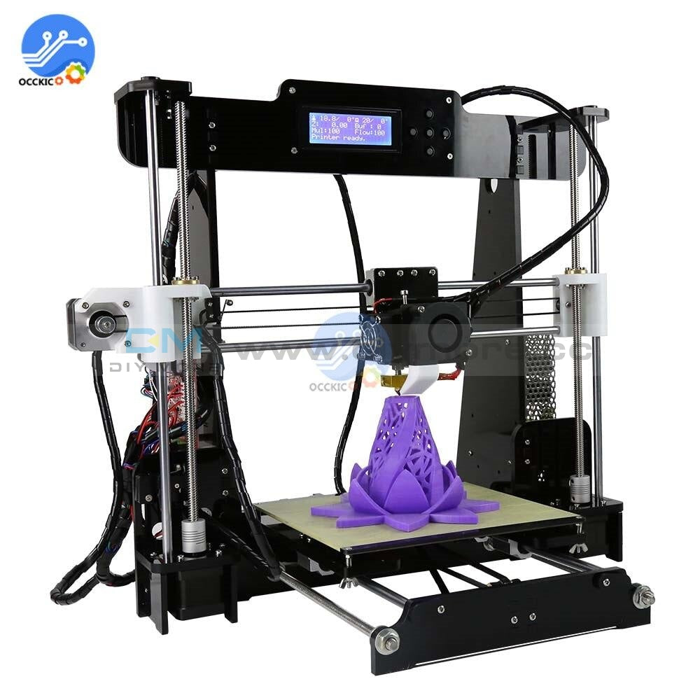 Anet A8 3D Printer 220V 110V 250W Aluminum Pcb Acrylic Frame High Presicion Lcd Display With Buttons