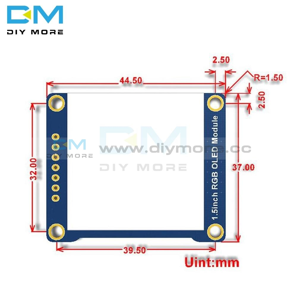 I.5 Inch 128X128 Rgb Oled Screen Display Module Ssd1351 Spi I2C Iic For Arduino Raspberry Pi Stm32