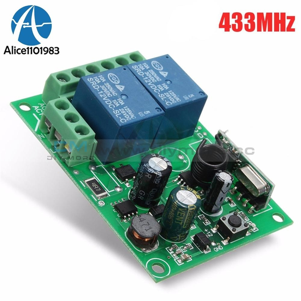 Ac 220V 433Mhz 2 Channel 2Ch Independent Wireless Rf Relay Remote Control Switch Controller Module